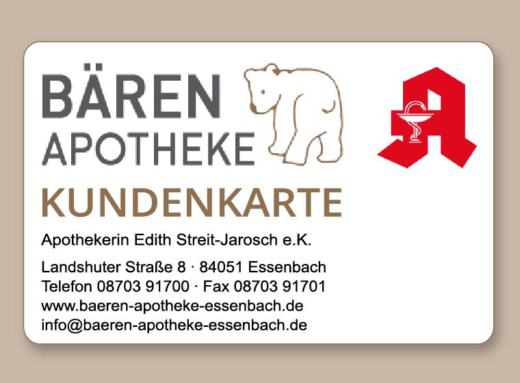 Kundenkarte - Bären Apotheke Essenbach